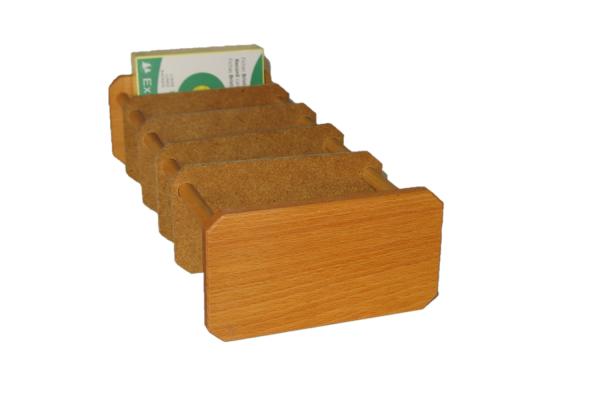 Lernkartei aus Holz